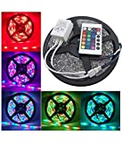 #8: Homes Decor 5 Meter Waterproof RGB Remote Control LED Strip Light - Color Changing