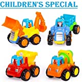 #6: Famous Quality Unbreakable Engineering Automobile Car Construction Machine Toys Set for Kids (Set of 4), Multi Color
