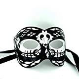 Day of the Dead Masque de qualité supérieure pour homme-Fabriquées en Italie-Masque de bal masqué