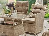 Destiny Loungesofa Merano Pearl Shell Lounge Sofa Bank Sofabank Polyrattan