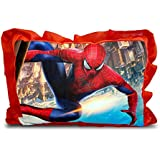 Sleep Nature's Baby Pillow For Kids|Soft Baby Pillow|Rectangle Shape|Soft Toys|Cartoon Printed|Red Colour Pillow|Pillow Size 14x20 Inches|51