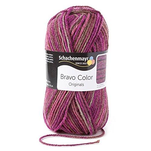 Schachenmayr  Bravo Color 9801421-02088 beere Handstrickgarn, Häkelgarn (Stricken Wolle)
