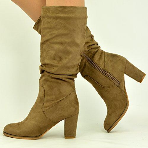 Cucu Fashion , Sandales Compensées femme Kaki