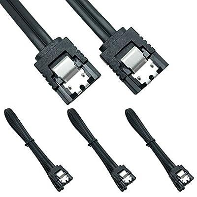 SATA Câble 6.0 Gbps, 3 Pack SATA3 Câble, 18 Pouce,180degrés Rouge par Neeyer