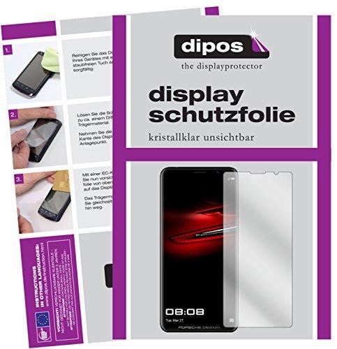 dipos I 2X Schutzfolie klar passend für Huawei Mate RS Porsche Design Folie Displayschutzfolie
