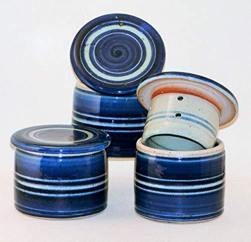 Unbekannt Original Französische Wassergekühlte Keramik Butterdose, Immer Frische Und Streichfähige Butter, ca 125 g Butter, c3 Z-K