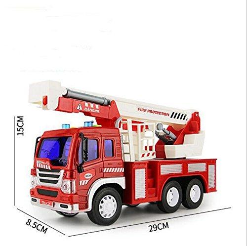 EEvER Niedliches Plüschspielzeug Puppen, Maschinenbaufahrzeug, Rettungsauto, Modell mit Licht und Sound für Kinder