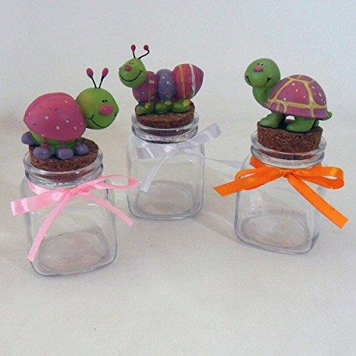 Dlm26031 animaletti rosa su barattoli in vetro (kit 24 pezzi) bomboniera