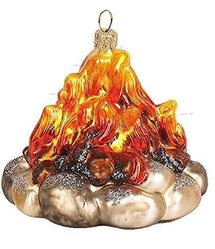 Pinnacle Peak Trading Company Campfire Polish Glass Christmas Tree Ornament Camping Decoration Camp Fire