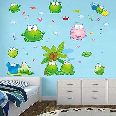 Loaest Les Enfants De Maternelle Salle De Musique De Chambre Salle De Bains Décoration Murale Autocollants Autocollants Autocollants Frog De Carreaux En Verre