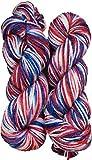 #2: M.G Enterprise Mustang 400 gm Wool Ball Hand knitting wool / Art Craft soft fingering crochet hook yarn, needle Acrylic knitting yarn thread dyed