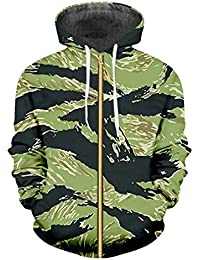 Huicai Mens Jacket Camouflage Spring Autumn Teenager Hooded Outwear Coat