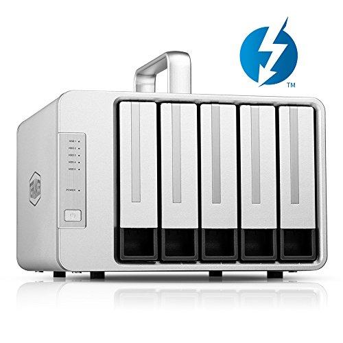 TERRAMASTER D5 Thunderbolt 3 (40Gbps) 5-Bay Externes Festplattengehäuse RAID-Speicher, RAID Gehäuse (Ohne Festplatte, 2 x Thunderbolt 3) China Daisy Chain