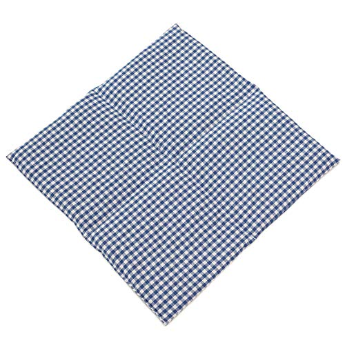 K/örnerkissen Bio-Roggen 4-Kammern 50cm x 17cm jeansblau mit wei/ßen Sternen