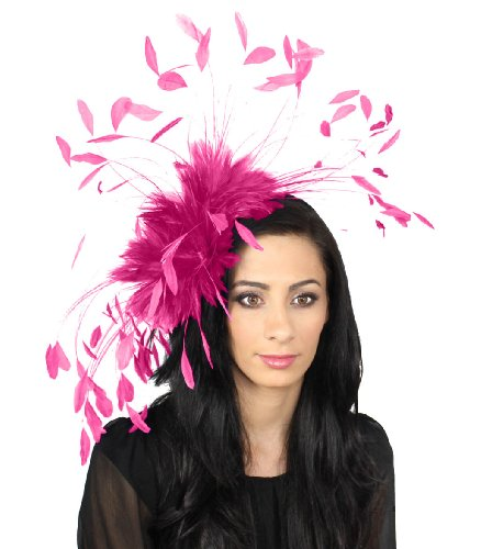 giant-eagle-owl-feather-fascinator-hat-for-ascot-kentucky-derby-weddings-bright-fuchsia