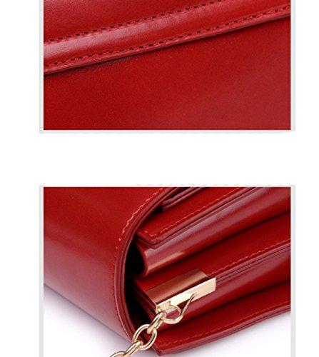 LAIDAYE Freizeit-Kette Tasche Einfach Wilde Retro Kleine Quadratische Tasche Messenger Umhängetasche Grey
