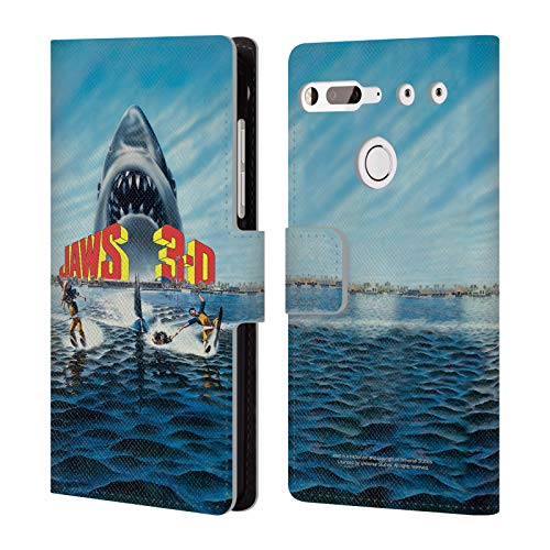 Head Case Designs Offizielle Jaws Poster 3-D III Schluessel Kunst Leder Brieftaschen Huelle kompatibel mit Essential PH-1 (Jaws 3-poster)