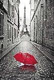 Grupo Erik GPE4860 Poster Paris-Paraguas Rojo, carta, Multicolore,  91 x 61,5 x 0,1 cm