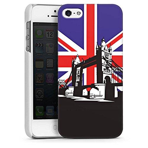 Apple iPhone 4 Housse Étui Silicone Coque Protection Londres Grande-Bretagne Tower Bridge CasDur blanc