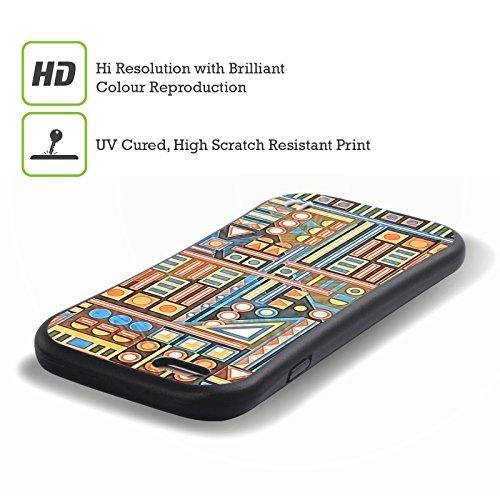 Ufficiale Shelly Bremmer Blu Geometrico Case Ibrida per Apple iPhone 7 Plus / 8 Plus Blu