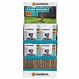 GARDENA Viereckregner ZoomMaxx-Aktion: Variabler Sprinkler für unterschiedlichste Anforderungen und Flächen von 9 - 216 m², Reichweite 3 - 18 m, Sprengweite 3 - 12 m, mit Standfuß (8128-20)