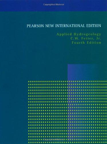 Applied Hydrogeology: Pearson New International Edition por C.W. Fetter