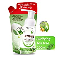 Betadine Hand Wash Natural Defense, Tea Tree Oil, Refill Bag, 200 ml