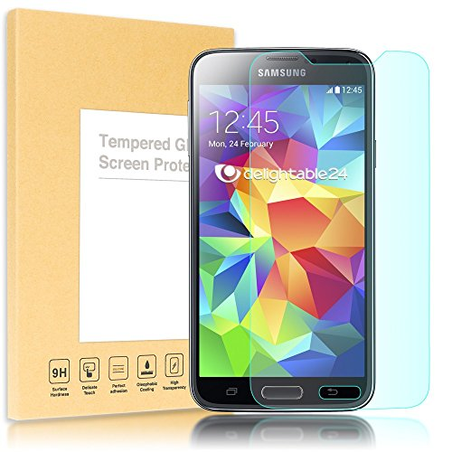 NALIA Schutzglas kompatibel mit Samsung Galaxy S5 Mini, Full-Cover Displayschutz Handy-Folie, 9H Glas-Schutzfolie Bildschirm-Abdeckung, Schutz-Film Smart-Phone HD Screen Protector Glass - Transparent - Glas Lcd Screen Protector