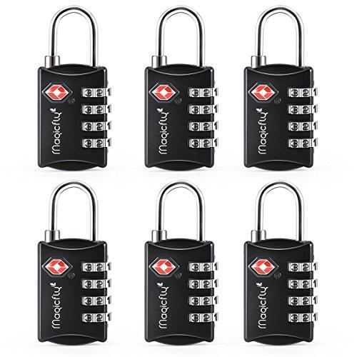 Magicfly - Cadenas à codes Cadenas à bagage TSA Cadenas à combinaison à 4 chiffres