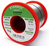 1 Kg STANNOL 1,0 mm Lötdraht HF34 Nr. 580033 Löten Lot Löt Lötzinn L= S-Sn60Pb40