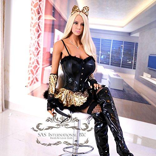 SAS International B.V. Sex puppen mit 3 Öffnungen Oral Sex Anus Sex Vagina Sex Naturgetreue Liebespuppen Medizinische Silikon Material TPE Spielzeug Sex Toys Liebespuppe für Männer (165cm)