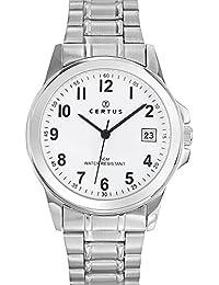Certus 616217–Reloj Hombre–Cuarzo Analógico–Reloj color blanco–pulsera acero plata