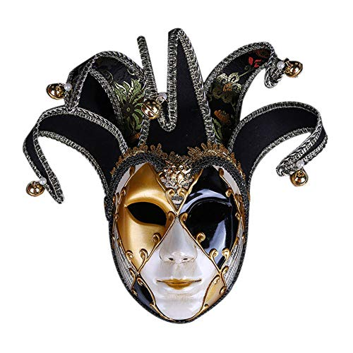 e Cosplay Weihnachten Halloween Venezianisch Spiel,Black ()