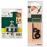 Bosch - Conjunto de 7 sierras de corona para madera, PVC. + 2 609 255 318 - Set de 3 topes de profundidad (pack de 3)