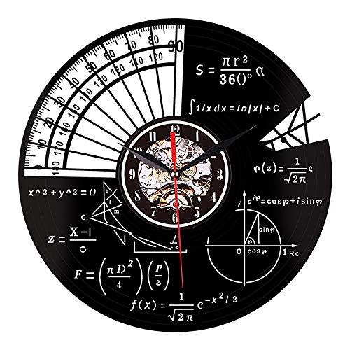 Argomento matematico orologio da parete in vinile 12