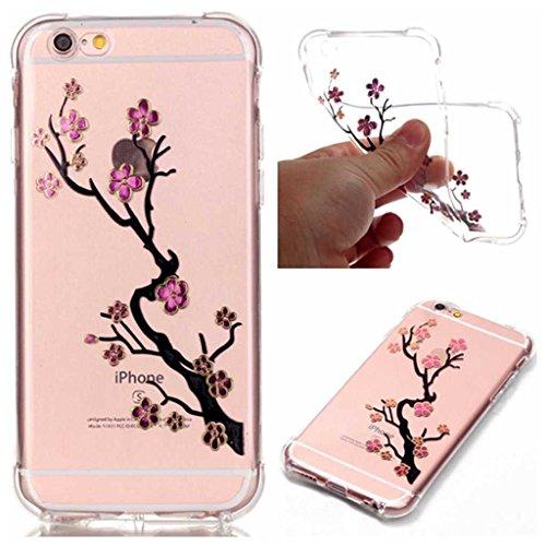 Boxtii® - Cover morbida in TPU per iPhone 6S/iPhone 6, slim fit, antigraffio, antiurto, con pellicola protettiva in vetro temperato in omaggio, PLASTICA, #2 Love, Apple iPhone 5 / iPhone 5s #1 Tree