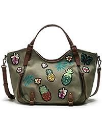 Desigual Bols_rotterdam Pinday Mujer Shoppers y bolsos de hombro Verde (Kaki) 30x15x31 cm (B x H x T)