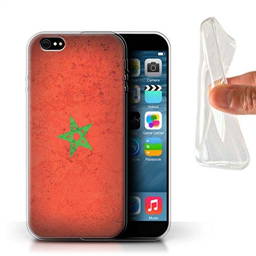 Coque Gel TPU de STUFF4 / Coque pour Apple iPhone 7 / Égypte/Égyptien Design / Drapeau Africain Collection Maroc/Marocain