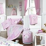 Bed-e-Byes Purfect - Conjunto para habitación infantil (con cortinas y colcha), diseño con gatito