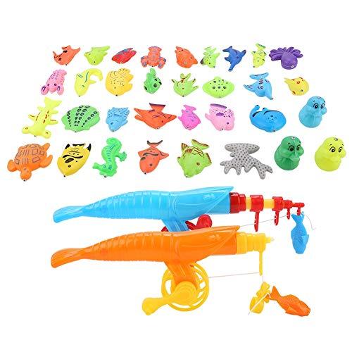 eln Spielzeug, Magnetische Spielzeug Angeln Spiel Set Pädagogisches Spielzeug Angelrute + Fischernetz + Spielzeug Organismus für Kinder Baby ()