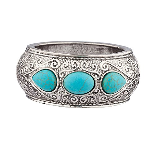 lux-zubehor-antik-silvertone-turkis-armband