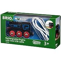 Brio - Locomotora Recargable con Cable Mini USB (33599)