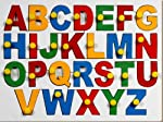 Your Child's First Classroom The Little Genius English alphabets knob puzzle is a nice way to introduce your little one to the world of alphabets. This wooden puzzle includes a tray with 26 alphabets with big knobs that are attached to each alphab...
