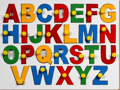 little genius english alphabets - uppercase with knob - 51KlgCopNUL - Little Genius English Alphabets – Uppercase with Knob