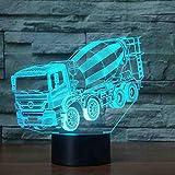RJGOPL 3D Led Illusion Blender Modèle De Voiture Nuit Lumière Led 7 Couleurs...