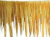 Palmendach 120 x 60 cm / 10 Stück - Dachmatte aus Palmenblätter - Natur Dachschindel als Wind und Sonnenschutz