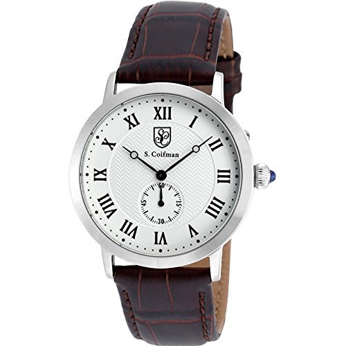 S Coifman SC0360 Mens Brown Leather Strap Watch