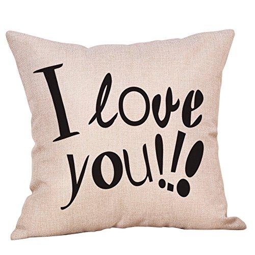 Yvelands Glücklicher Valentinstag Wurfkissenbezug Sweet Love Square -