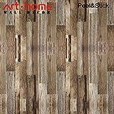Tapeten Kontakt Papier die beunruhigtes Vinyl faux Holz Planken selb stklebendes Schalen und Stock wasserdichtes hängendes Papier für Wand-Dekor (0.53 * 5.65m,)