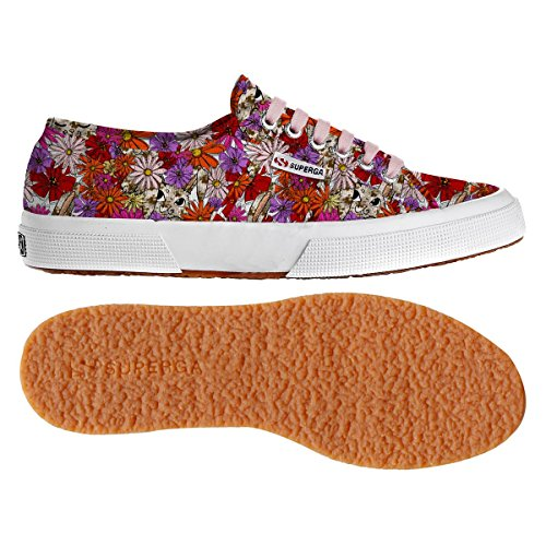 Superga  2750 Fantasy Cotu, Baskets femme FLOWERS RUBBIT